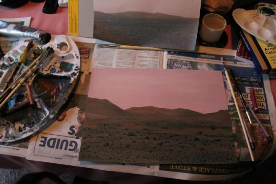 Mars in acrylics